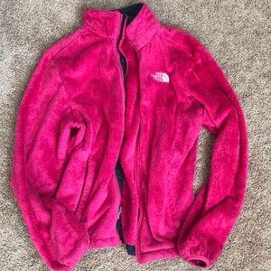 Fuzzy Pink Northface jacket